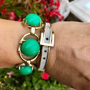 Stella & Dot Zinnia Green bracelet